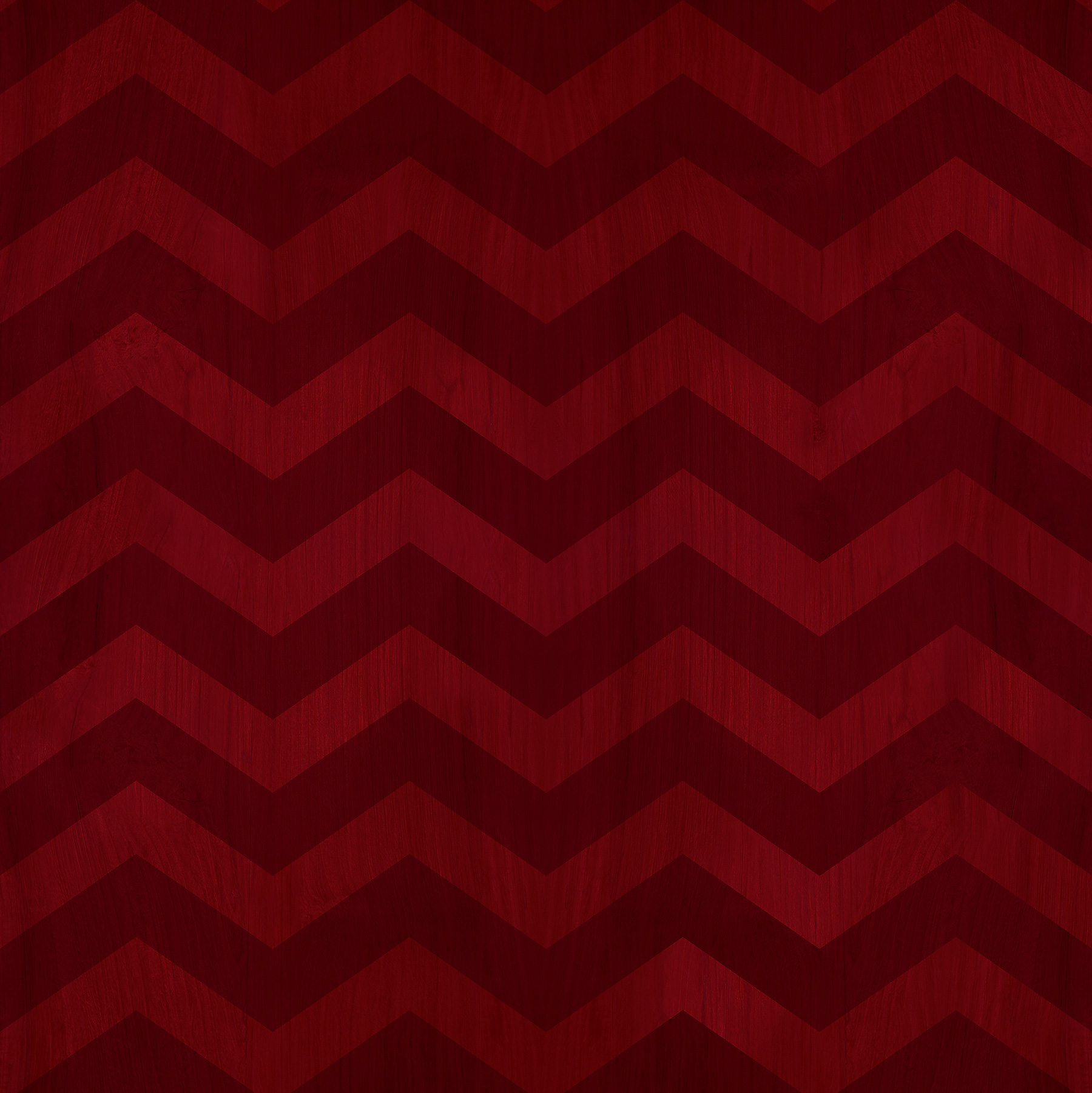 red zig zag wood