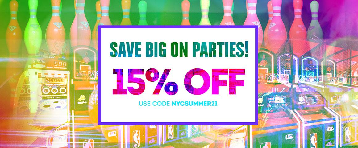 Summer 15% off banner