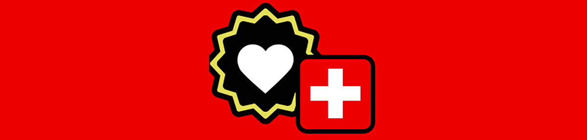 heart and cross banner