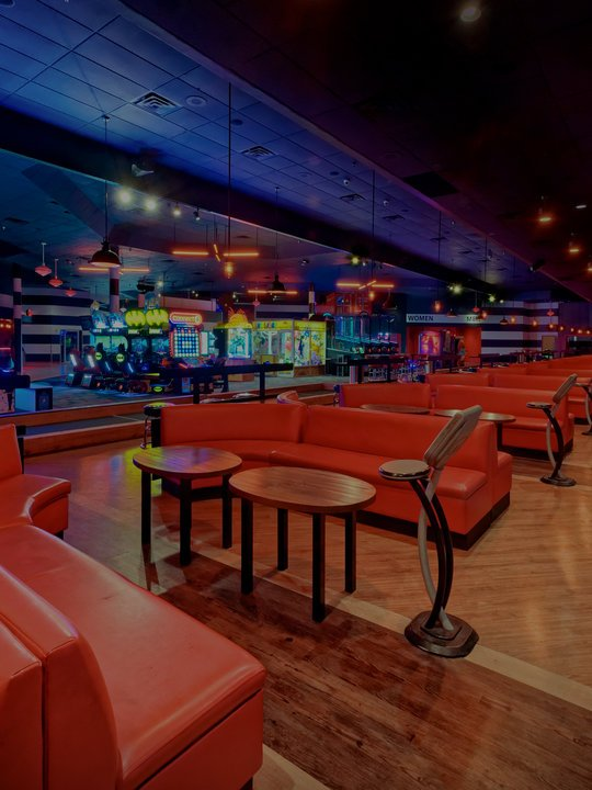 red couches on the lanes