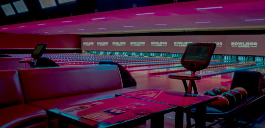 Lanes and red couches