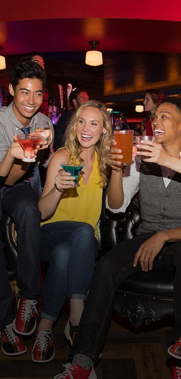 3 friends toasting with drinks